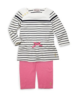 Juicy Couture - Infant's Two-Piece Striped Tunic & Leggings Set