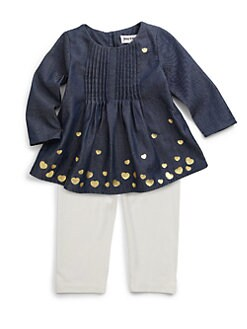 Juicy Couture - Infant's Two-Piece Hearts Tunic & Leggings Set