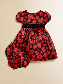 Hartstrings - Infant's Rose Charmeuse Dress & Bloomers Set