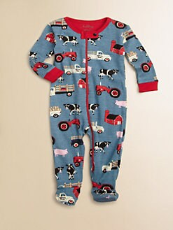 Hatley - Infant's Farm-Print Footie
