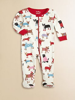 Hatley - Infant's Dog-Print Footie