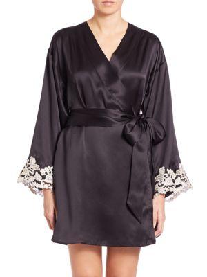 Vestaglia Corta Silk Robe