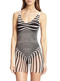 Jean Paul Gaultier - Optical Tulle One-Piece Swimsuit <br>