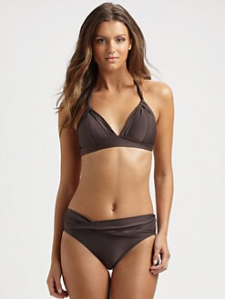 Badgley Mischka - Twisted Triangle Bikini Top