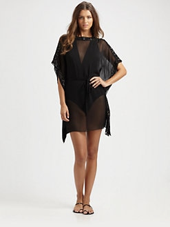 Badgley Mischka - Crepe de Chine Caftan