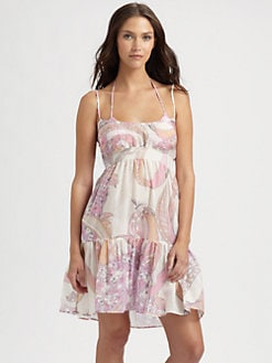 Emilio Pucci - Cotton/Silk Ruffle Dress