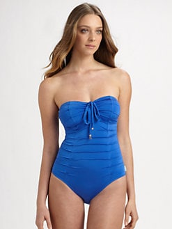Shan - One-Piece Strapless Ruched Swimsuit