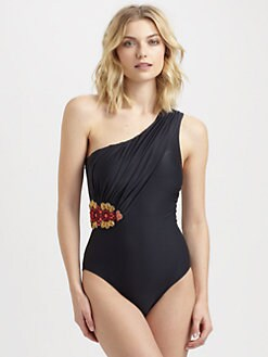 Badgley Mischka - One-Piece St. Tropez One-Shoulder Swimsuit