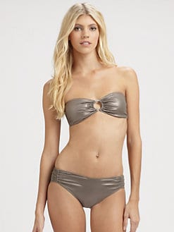 Jean Paul Gaultier - Two-Piece Metallic Bandeau Bikini