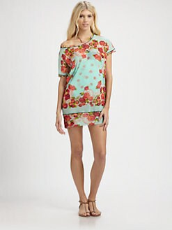 Jean Paul Gaultier - Tulle Floral-Print Tunic