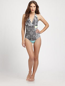 Etro - One-Piece Bandana-Print Swimsuit