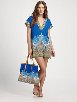 Etro - Blue-Border Paisley Tunic