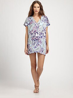 Etro - Blue Dragon Paisley Tunic Top