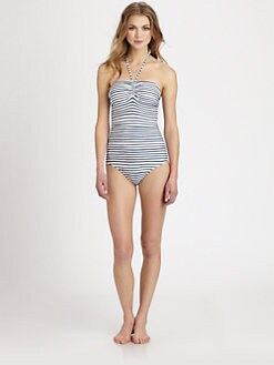 Burberry Brit - One-Piece Halter Bandeau Swimsuit