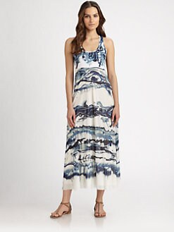 Jean Paul Gaultier - Printed Racerback Dress