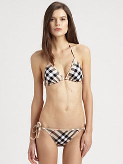 Burberry Brit - Two-Piece Nova Check String Bikini