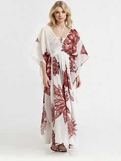 Roberto Cavalli - Cotton/Silk Long Caftan