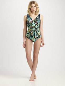 Badgley Mischka - One-Piece Twilight Belt Swimsuit