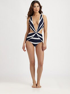 Oscar de la Renta - One-Piece Twist-Front Swimsuit
