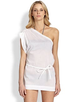 Chloe - One-Shoulder Cotton Coverup