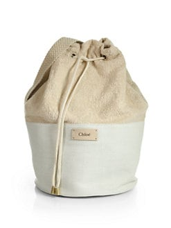 Chloe - Terry-Top Woven Backpack