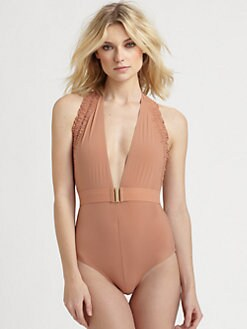 Chloe - One-Piece Halter Swimsuit