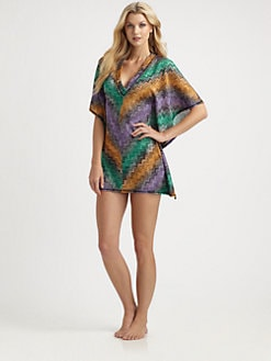 Missoni - Deep V-Neck Caftan Coverup