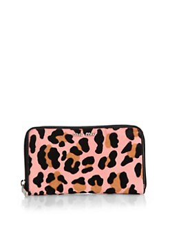Miu Miu - Cavallino Leopard-Print Calf Hair Wallet <br>