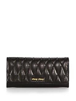Miu Miu - Biker Nappa Leather Wallet