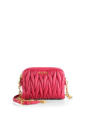 Matelasse Quilted Leather Camera Bag