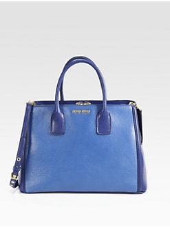 Miu Miu - Madras Bi-Color Double Handle Box Tote