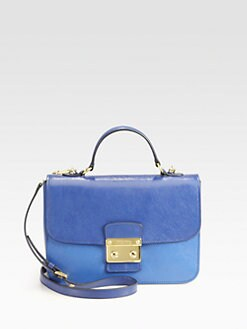 Miu Miu - Madras Bi-Color Top Handle Shoulder Bag