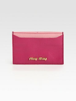 Miu Miu - Madras Bi-Color Card Case