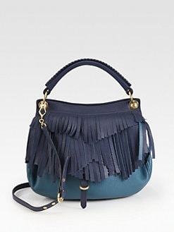 Miu Miu - Fringed Colorblock Hobo
