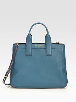 Miu Miu - Vitello Caribu Bi-Color Large Tote