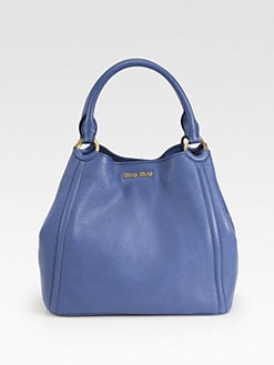 Miu Miu - Vitello Caribou Double Handle Bucket Bag
