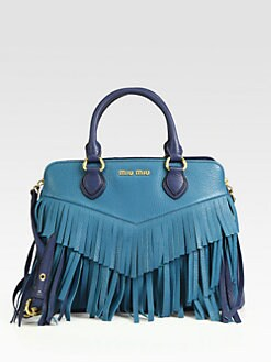 Miu Miu - Fringed Colorblock Satchel