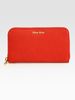 Miu Miu - Madras Zip-Around Wallet
