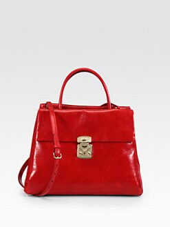 Miu Miu - Shiny Vitello Top Handle Bag