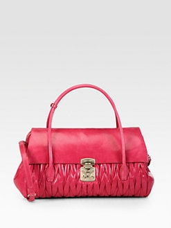 Miu Miu - Matelasse Lux Double Handle Satchel