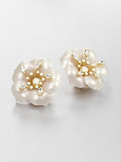 Miu Miu - Flower Clip-On Earrings