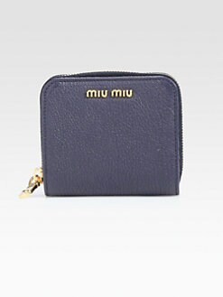 Miu Miu - Madras Zip-Around Leather Wallet
