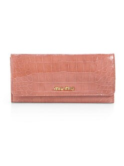 Miu Miu - Embossed Leather Continental Wallet