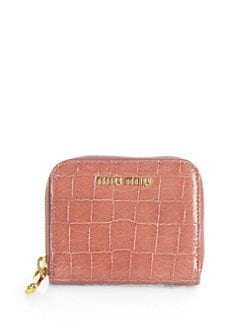 Miu Miu - Embossed Leather Zip-Around Wallet