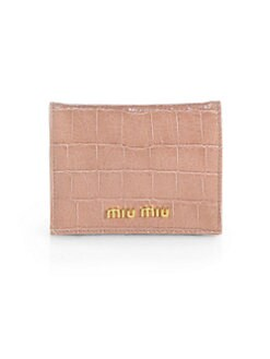 Miu Miu - Embossed Leather Card Case
