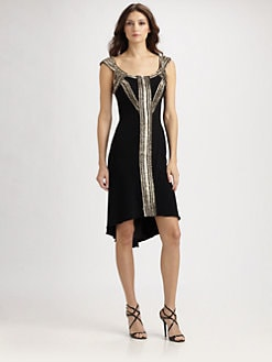 Theia - Beaded Belted Dress