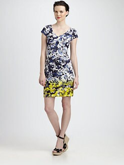 Theia - Firework Floral Print Dress
