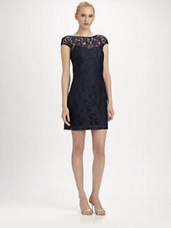 Theia - Lace A-Line Dress
