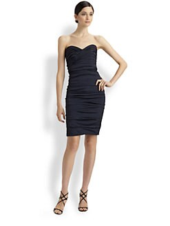 Theia - Ruched Cocktail Dress