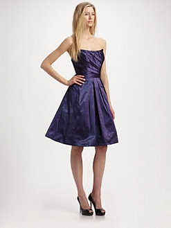Theia - Taffeta Strapless Dress